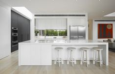 Minimalist Kitchen //Black and white minimalist kitchen - DHM Residence by Mim Design via  » CONTEMPORIST
