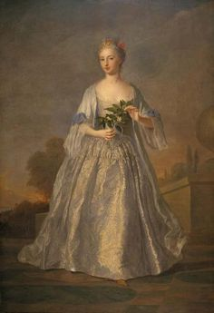 fripperiesandfobs:    Portrait of a Lady Dressed in Silver  1718  Alexis-Simon Belle