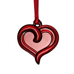 Orrefors Holly Days Heart Ornament | Bloomingdale's