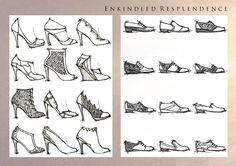 The House of Resplendence (sources of natural light). Womens Footwear for Spring/Summer 2015.  Initial design - Enkindled Resplendence.