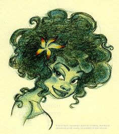 natural hair cartoons | the frog black girl black hair natural hair art cartoon