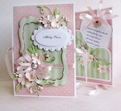Pink Card View 1. Sweet design idea for card with pockets.
