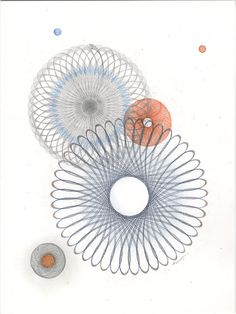 Original Pencil Drawing Color Pencil Drawing Abstract Art in