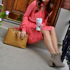 Chanel bag, boots, coffee. What's not to love?