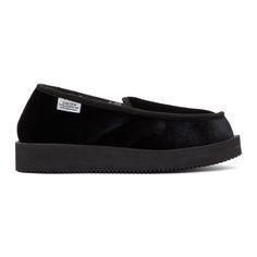 SUICOKE Black Velvet Loafers. #suicoke #shoes #