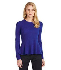 Antonio Melani Carolina Peplum Cashmere Sweater