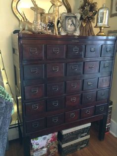 Antique Library Card Catalog BROWN & MORSE 25 Drawer by shabbyhome