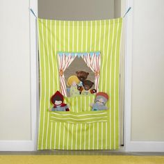 off-broadway-puppet-theater - love this simple idea for a doorway.  Doesn't take up much room to store either.