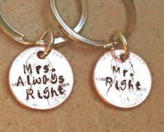 Fathers Day Gift Mr. Right and Mrs. Always Right by natashaaloha
