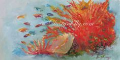This is one of my favorites on designfolly.com: Coral Seas Tropical Reef, Throw Pillow