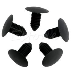 20Pcs Car Bumper Fender Plastic Rivets 10mm Hole Black Fasteners for Ford New hot