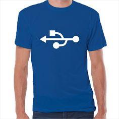 Camiseta friki Geek USB