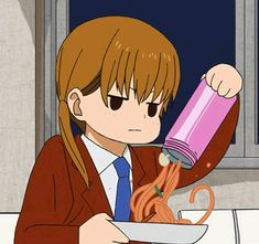 """This chibi is based off the anime """"My Little Monster."""" This anime chibi gif is of Shizuku Mizutani."""