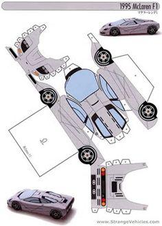25 Paper Model Car intended for Paper Crafts Car