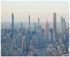 A rendering of the New York Midtown skyline in 2022 after all supertall skyscraper projects have been completed. Buildings include Tower Fifth Central Park Tower 262 Fifth Avenue and One Vanderbilt. 111 West 57th Street, 432 Park Avenue, Nyc Skyline, World Trade, Central Park, San Francisco Skyline, Modern Architecture, New York City, Tower