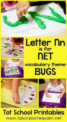 Tot School Printables Letter N is for Net {free} from @{1plus1plus1} Carisa #totschool