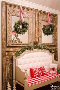 Christmas Home Tour 2016 - Design Dazzle Christmas Entryway, Christmas Home, Christmas Holidays, Christmas Crafts, Apartment Christmas, Cottage Christmas, Magical Christmas, Elegant Christmas, Cheap Christmas Gifts