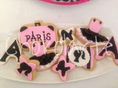 Paris cookies Galletas Paris  Tortas temáticas Cali  318-502-2822 Fiestas Cali
