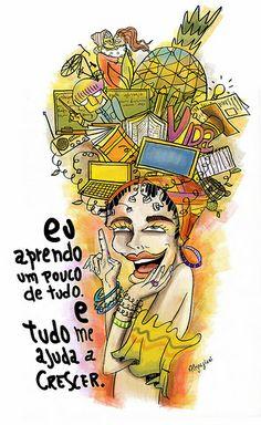"""Ilustração Concurso Rede Globo e Itsnoon. O tema é """"Conhecimento""""."""