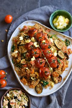 Ras-el-hanout spiced quinoa salad with roasted vegetables and feta  — George Eats