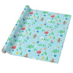 Merry Christmas wrapping paper - christmas craft supplies cyo merry xmas santa claus family holidays