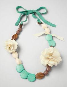 Beaded Petal Necklace