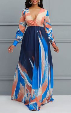 Exceptional women dresses are readily available on our website. Take a look and you wont be sorry you did. African Maxi Dresses, Latest African Fashion Dresses, African Print Fashion, African Attire, Short Beach Dresses, Maxi Dress With Sleeves, Chiffon Dress Long, Classy Dress, Kaftan