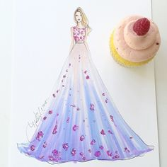 Whipped up some handmade cupcakes and couture for the birthday girl…