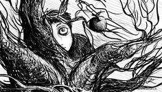 The apple on the oak