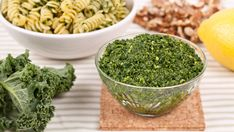 Walnut Kale Pesto - Recipes - Best Recipes Ever - A nutrient-packed alternative to basil pesto, this kale pesto is delicious tossed with freshly cooked pasta.