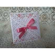 Convite Casamento Envelope Rendado - Super Luxo C/ 12