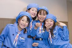 Japanese Brownie Girl Scouts - use photo for Thinking Day booth Brownie Girl Scouts, Girl Scout Cookies, Daisy Scouts, Boy Scouts, Japanese Culture, Japanese Girl, Gs World, Brownie Guides, Girl Scout Uniform
