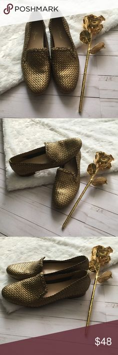 Cole Haan Gold Basket Weave Flats Size: 6.5/ Great Condition Cole Haan Shoes Flats & Loafers