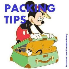 #DisneyPackingTips from www.Facebook.com/PirateMomPenny  make the most of your Disney vacation with these cool packing tips! www.PixieandPirateDestinations.com/Penny-C.html
