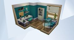 Check out this room in The Sims 4 Gallery! Sims 4 Mods, Sims 3, Sims Freeplay Houses, Sims 4 House Plans, The Sims 4 Packs, Sims 4 House Design, Casas The Sims 4, Sims Building, Sims 4 Build