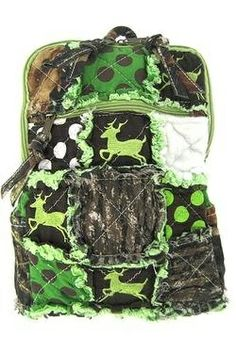 Cute! Patchwork Camo Deer Small Backpack Purse  Clothing Impulse