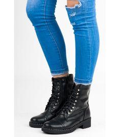 97e42fabffde Čierne viazané topánky kanady s vnútornou kožušinkou