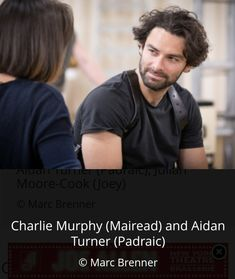 Aidan Turner The Lieutenant of Innismore rehearsals