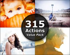 This Photoshop Elements Actions value pack comes with 315 professional Photoshop Actions from all 16 sets. This Photoshop actions package comes