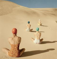 Clifford Coffin....this pic is awesome, but I bet that sand is burning their buttocks off!