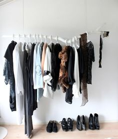 Another fun idea to use to hang clothes.  I don't know that I would work in my house but I like it.