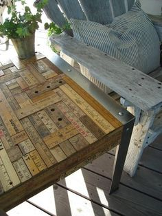 Ruler table top--dreaming of the work/prep table that will go over the combo washer/dryer and next to my downsized stove