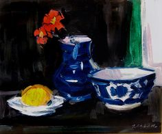 Still Life with Blue and White China