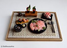 really cute 1/12 scale miniature sushi