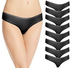 8 Pack Cotton Thongs Black XS -- Read more reviews of the product by visiting the link on the image.