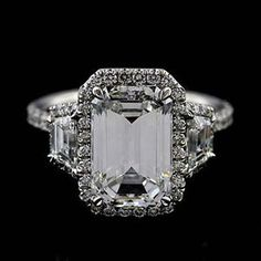 Platinum-Micro-Pave-Cut-Down-Diamond-Engagement-Ring-Mounting