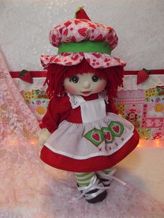 OOAK Mattel My Child Doll ~ Strawberry Shortcake ~ Commission Doll by jesska80