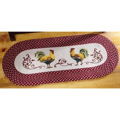 Collections Etc Country Rooster Kitchen Braided Runner - For the Home - Rugs - Area Rugs