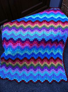 Ravelry: Project Gallery for Granny Ripple Afghan pattern by Project Linus