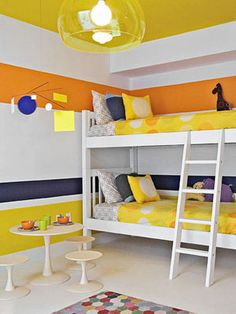 How to decorate a teen bedroom with color.